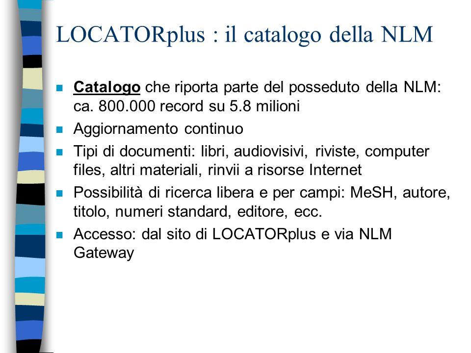 NLM - HSTAT : la home page