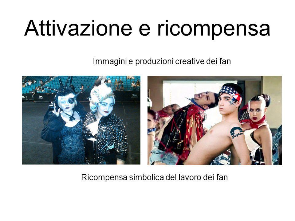 Attivazione e ricompensa Immagini e produzioni creative dei fan Ricompensa simbolica del lavoro dei fan