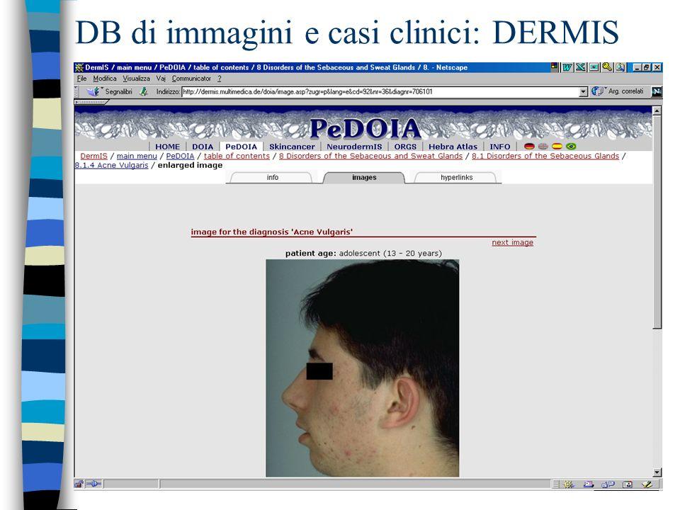 DB di immagini e casi clinici: DERMIS