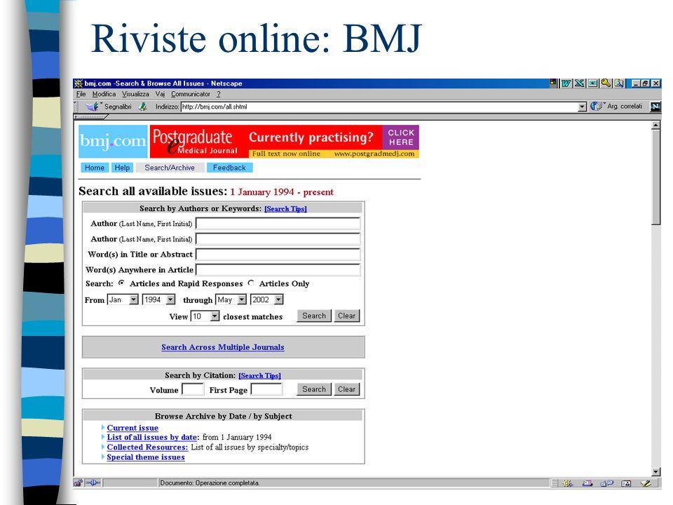 Riviste online: BMJ
