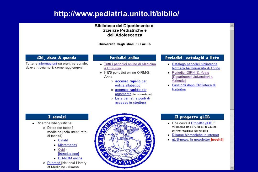 http://www.pediatria.unito.it/biblio/