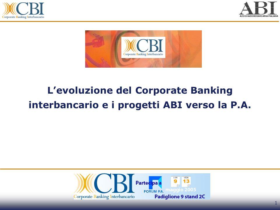 1 Levoluzione del Corporate Banking interbancario e i progetti ABI verso la P.A.