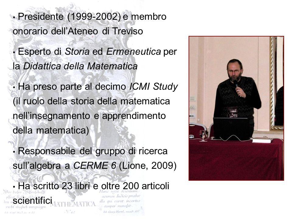 Nato a Milano il 16 giugno 1958 Laureato allUniversità di Padova Insegnante di matematica e fisica nella scuola secondaria di secondo grado per diversi anni Ricercatore allUniversità La Sapienza di Roma, Dipartimento di Matematica (dal 2000) Ricercatore allUniversità di Udine, Dipartimento di Matematica e Informatica (dal 2004)