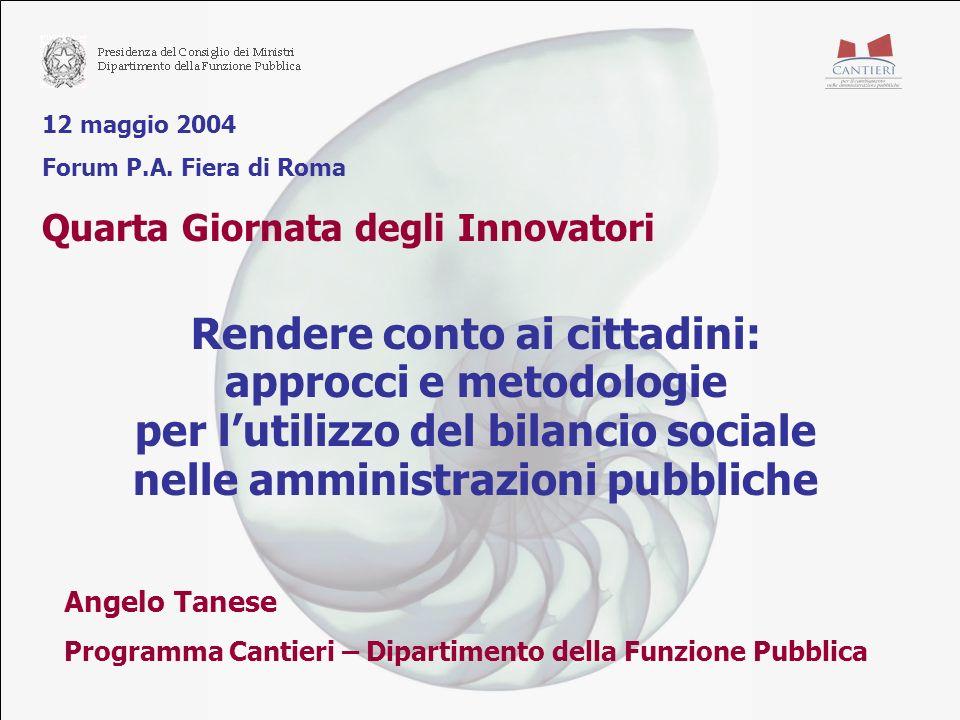 12 maggio 2004 Forum P.A.