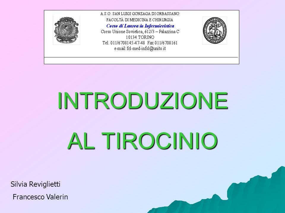 INTRODUZIONE AL TIROCINIO Corso integrato di Comunicazione ed Educazione terapeutica Anno II - Semestre II Silvia Reviglietti Francesco Valerin