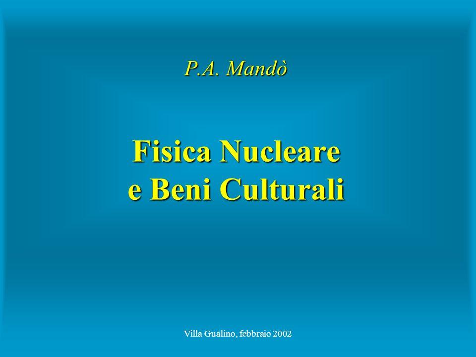 Villa Gualino, febbraio 2002 P.A. Mandò Fisica Nucleare e Beni Culturali