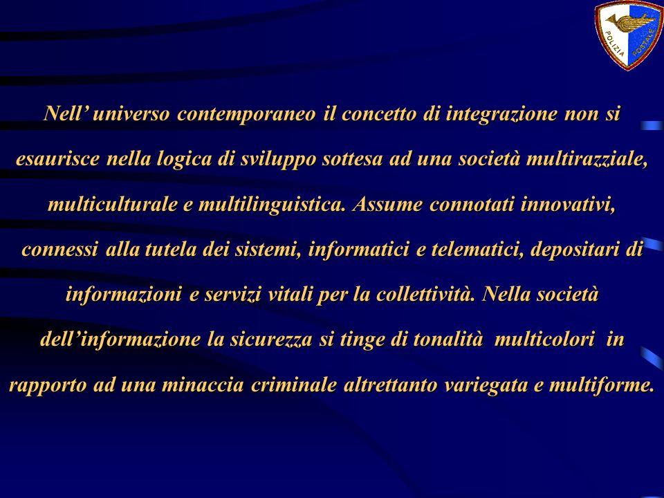 Nell universo contemporaneo il concetto di integrazione non si esaurisce nella logica di sviluppo sottesa ad una società multirazziale, multiculturale