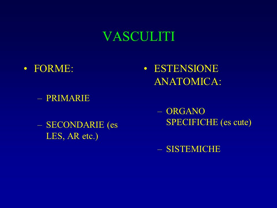 Arterite a cellule giganti (incidenza 10 x 10 5 ) Soggetti > 50 a.