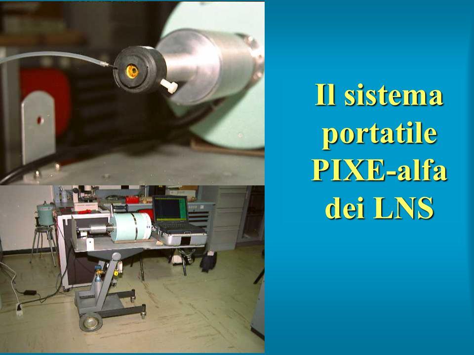 Il sistema portatile PIXE-alfa dei LNS