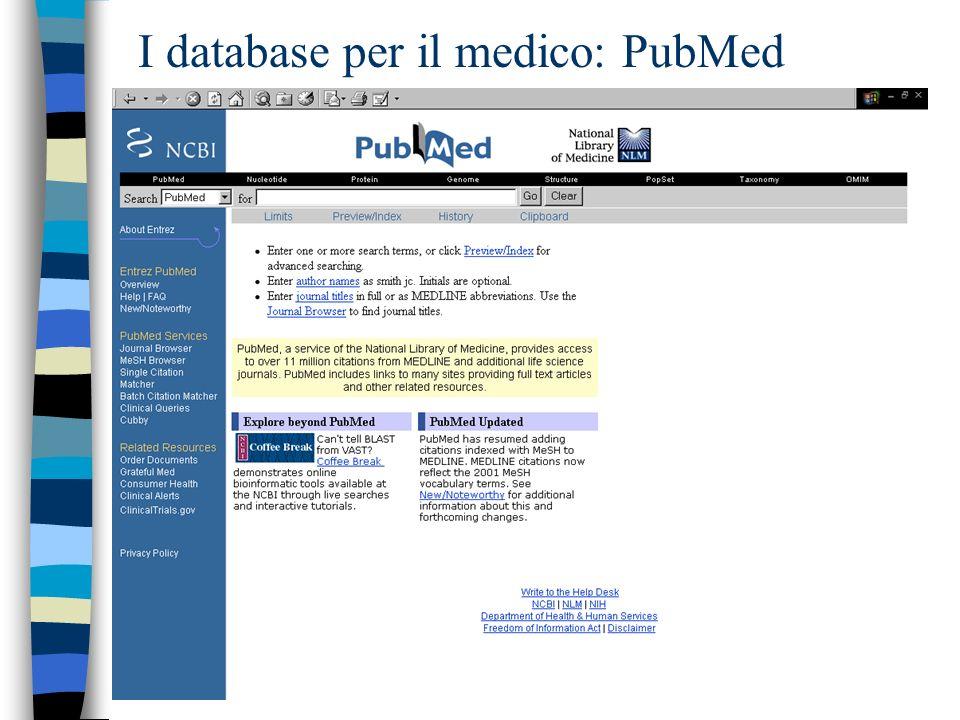 I database per il medico: PubMed