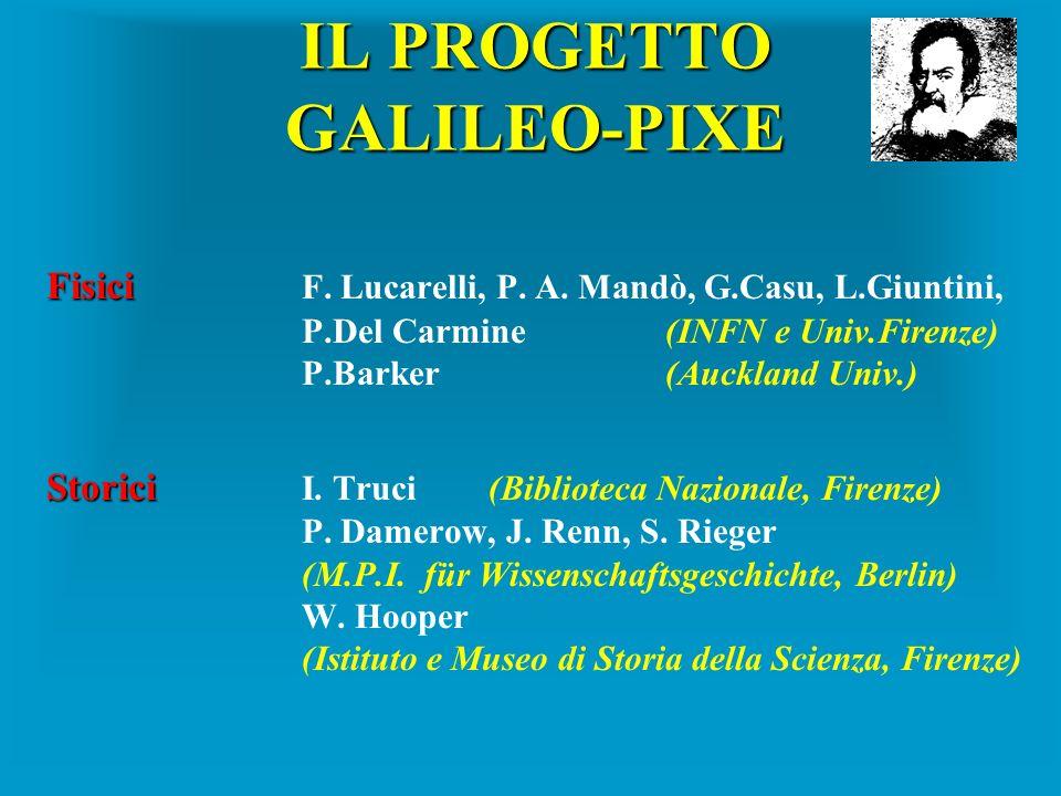 IL PROGETTO GALILEO-PIXE Fisici Fisici F. Lucarelli, P. A. Mandò, G.Casu, L.Giuntini, P.Del Carmine(INFN e Univ.Firenze) P.Barker (Auckland Univ.) Sto