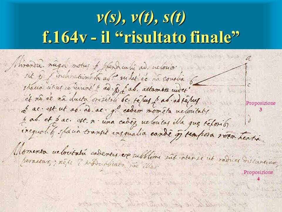 v(s), v(t), s(t) f.164v - il risultato finale Proposizione 3 Proposizione 4