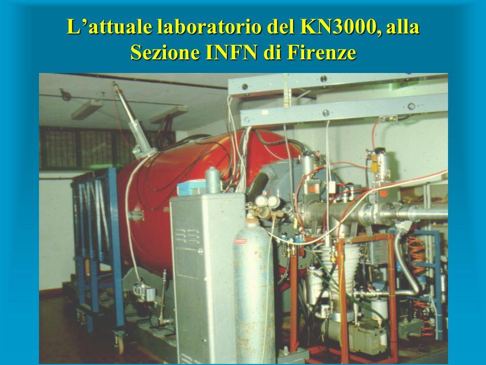 Lattuale laboratorio del KN3000, alla Sezione INFN di Firenze
