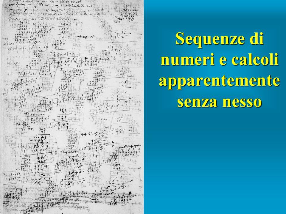 Sequenze di numeri e calcoli apparentemente senza nesso