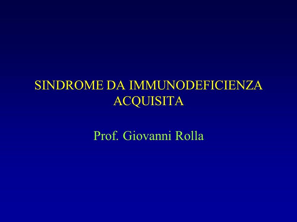 SINDROME DA IMMUNODEFICIENZA ACQUISITA Prof. Giovanni Rolla