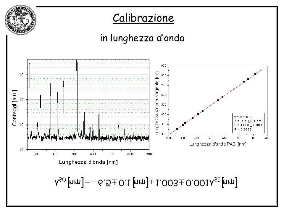 Calibrazione in lunghezza donda