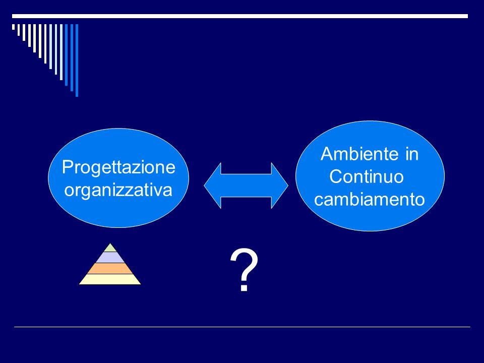 Progettazione organizzativa Ambiente in Continuo cambiamento ?