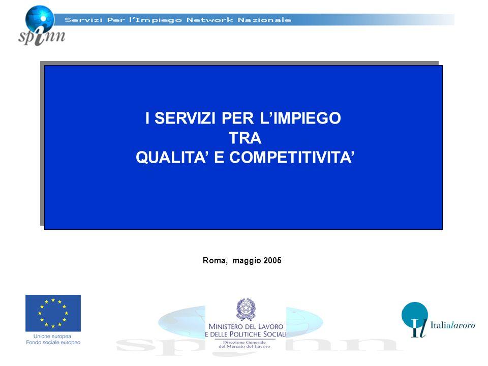 I SERVIZI PER LIMPIEGO TRA QUALITA E COMPETITIVITA I SERVIZI PER LIMPIEGO TRA QUALITA E COMPETITIVITA Roma, maggio 2005