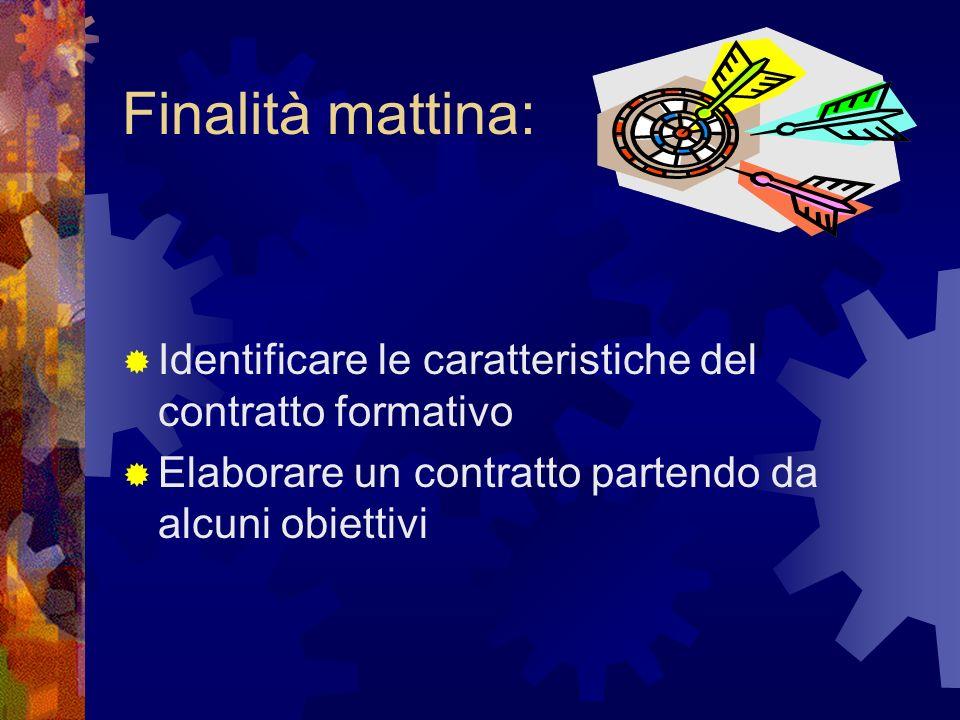 Il contratto formativo Lunedi 22 marzo 2010 Incontro di preparazione