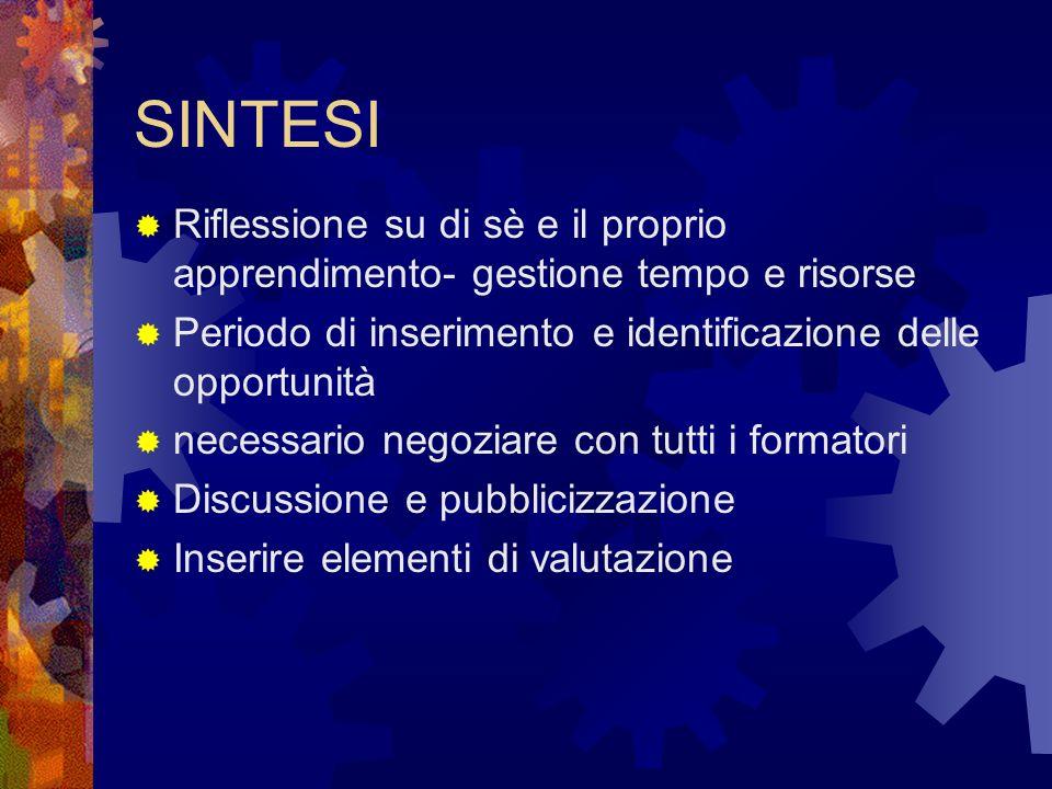 Mandato del lavoro di gruppo Quali sono le opportunità e le strategie da attivare per facilitare il raggiungimento degli obiettivi
