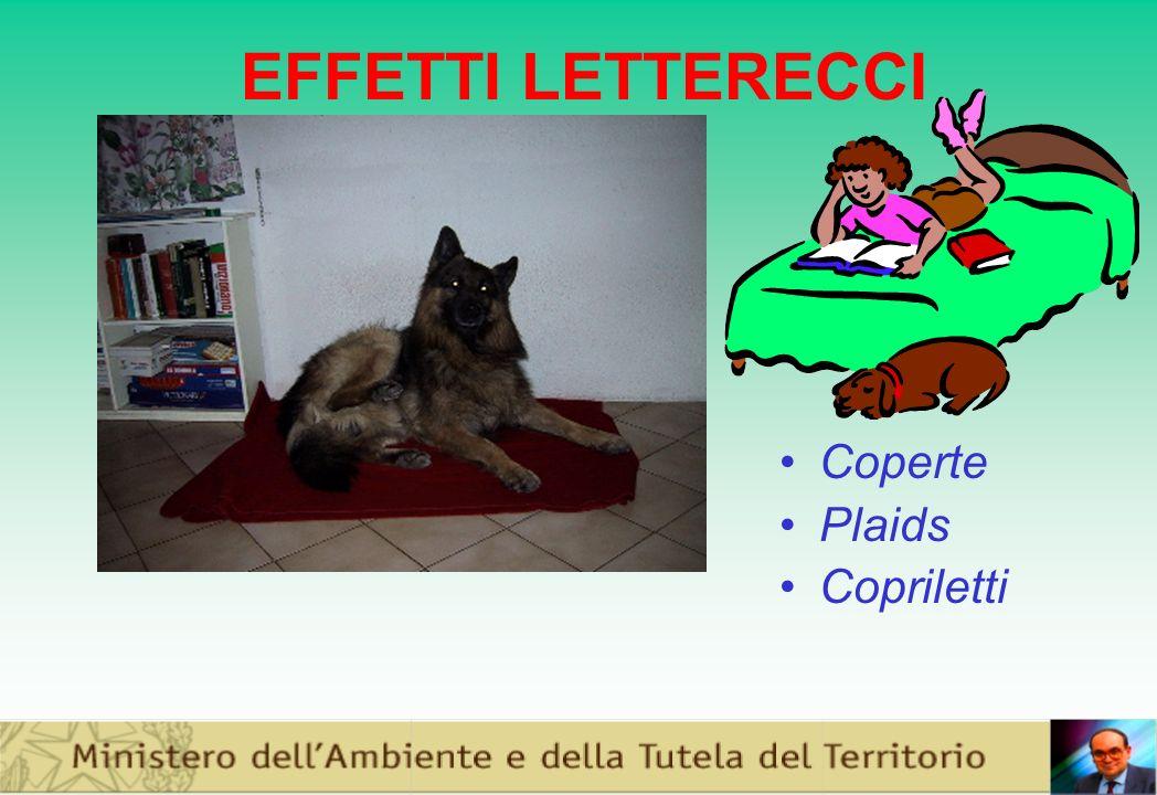 EFFETTI LETTERECCI Coperte Plaids Copriletti