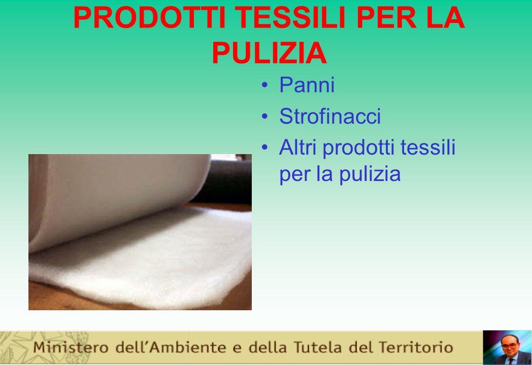 PRODOTTI TESSILI PER LA PULIZIA Panni Strofinacci Altri prodotti tessili per la pulizia