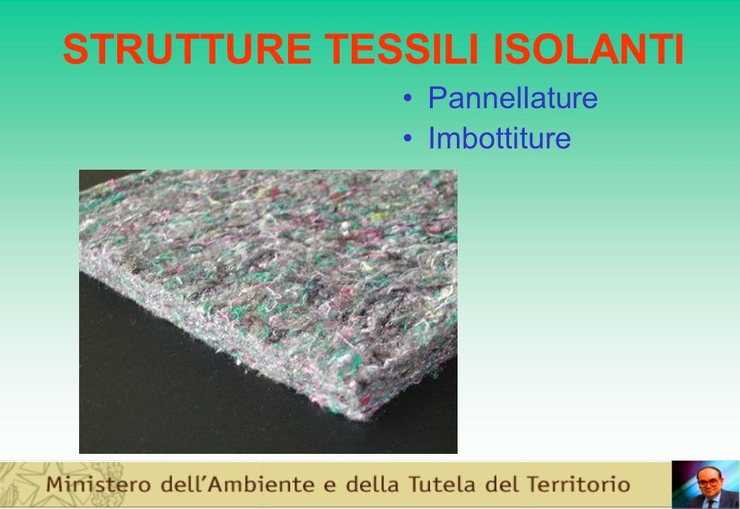 STRUTTURE TESSILI ISOLANTI Pannellature Imbottiture