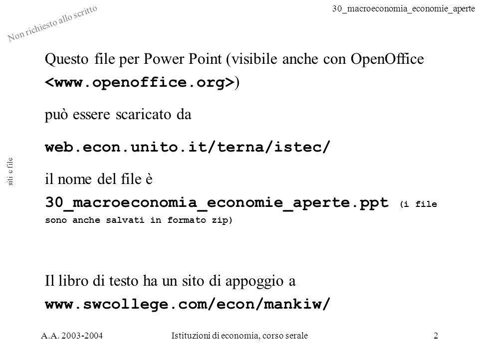 30_macroeconomia_economie_aperte Non richiesto allo scritto A.A.