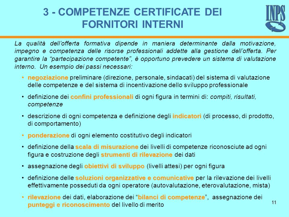 11 negoziazionenegoziazione preliminare (direzione, personale, sindacati) del sistema di valutazione delle competenze e del sistema di incentivazione