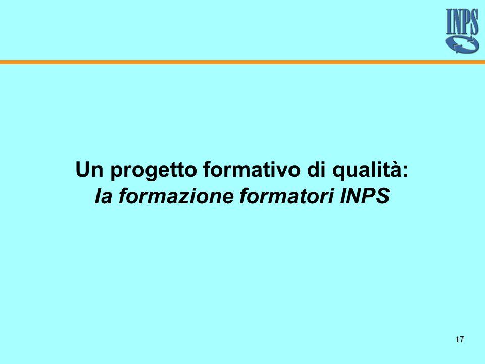 17 Un progetto formativo di qualità: la formazione formatori INPS