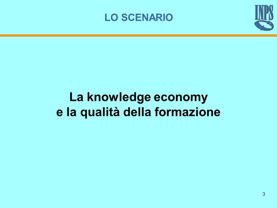 3 La knowledge economy e la qualità della formazione LO SCENARIO