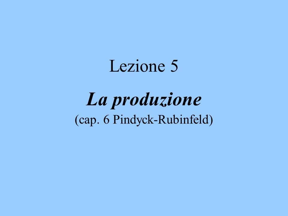 Lezione 5 La produzione (cap. 6 Pindyck-Rubinfeld)