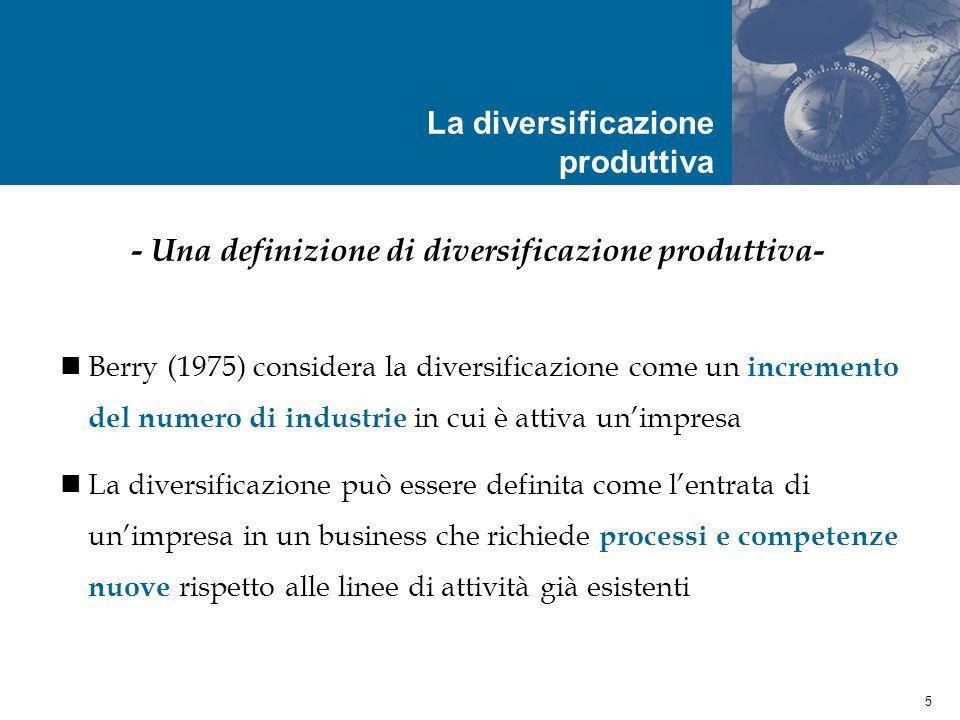 16 Unimpresa è coerente se il suo raggio dazione è costituito da business che per intensità e qualità condividono risorse di tipo tecnologico, organizzativo e di mercato - I presupposti teorici degli indici di Teece et al.
