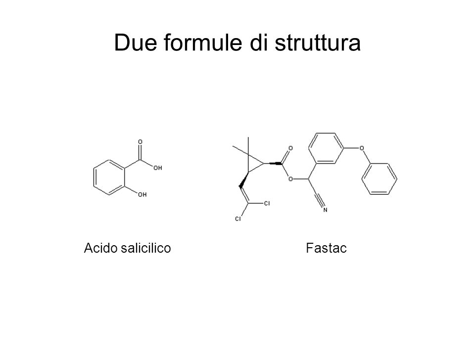 6 ottobre 2004Corso di Chimica Lezioni 5-625 Due formule di struttura Acido salicilicoFastac
