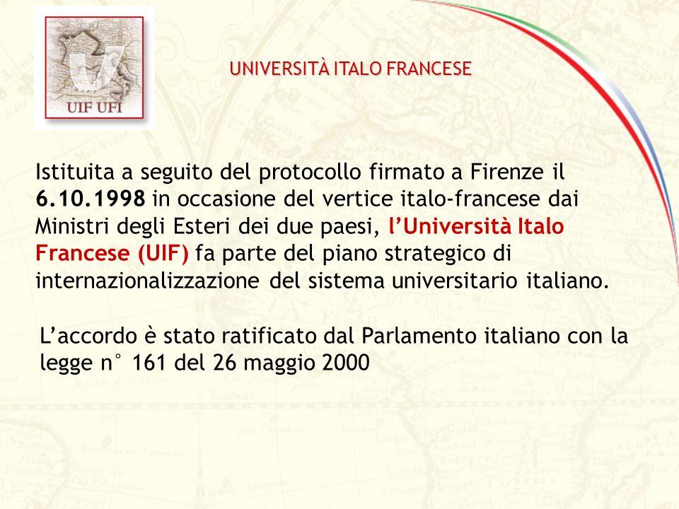 Istituita a seguito del protocollo firmato a Firenze il 6.10.1998 in occasione del vertice italo-francese dai Ministri degli Esteri dei due paesi, lUn