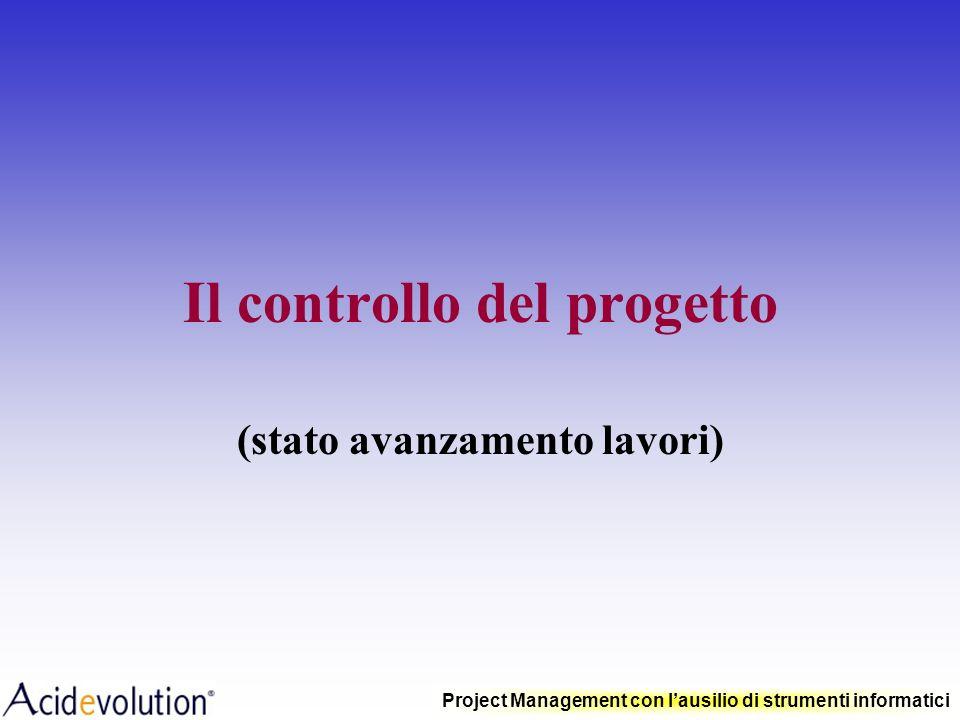 Project Management con lausilio di strumenti informatici Livellamento (schedulazione a capacità finita)