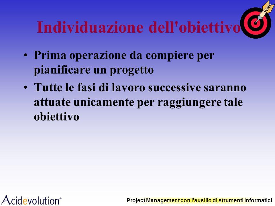 Project Management con lausilio di strumenti informatici Lo sviluppo del processo di pianificazione metodologie e tecniche fondamentali