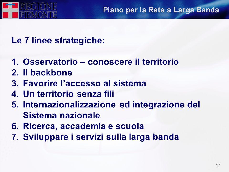 16 Gara per aree geografiche Lotto 5 -Province di Vercelli, Biella, ed area di raccolta dIvrea: 61 Link Base dasta 867.000 Lotto 1 - Area di raccolta