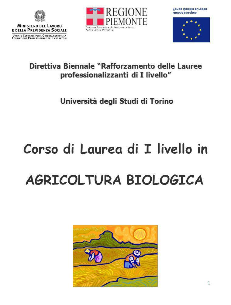 1 Direttiva Biennale Rafforzamento delle Lauree professionalizzanti di I livello Università degli Studi di Torino Università degli Studi di Torino Cor