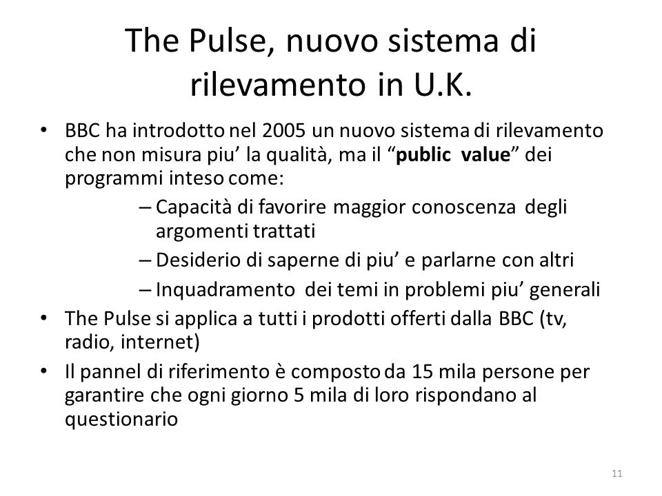 The Pulse, nuovo sistema di rilevamento in U.K.