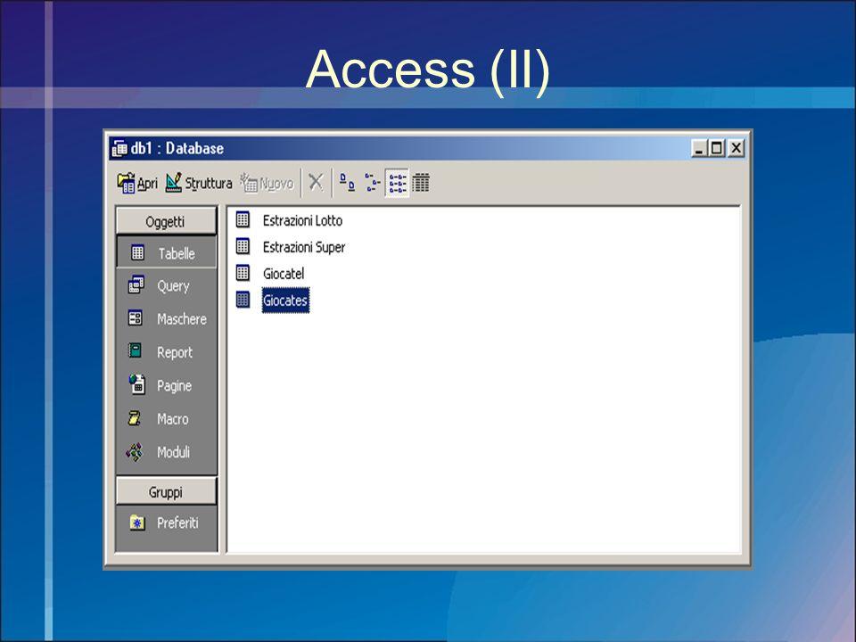 Access (II)