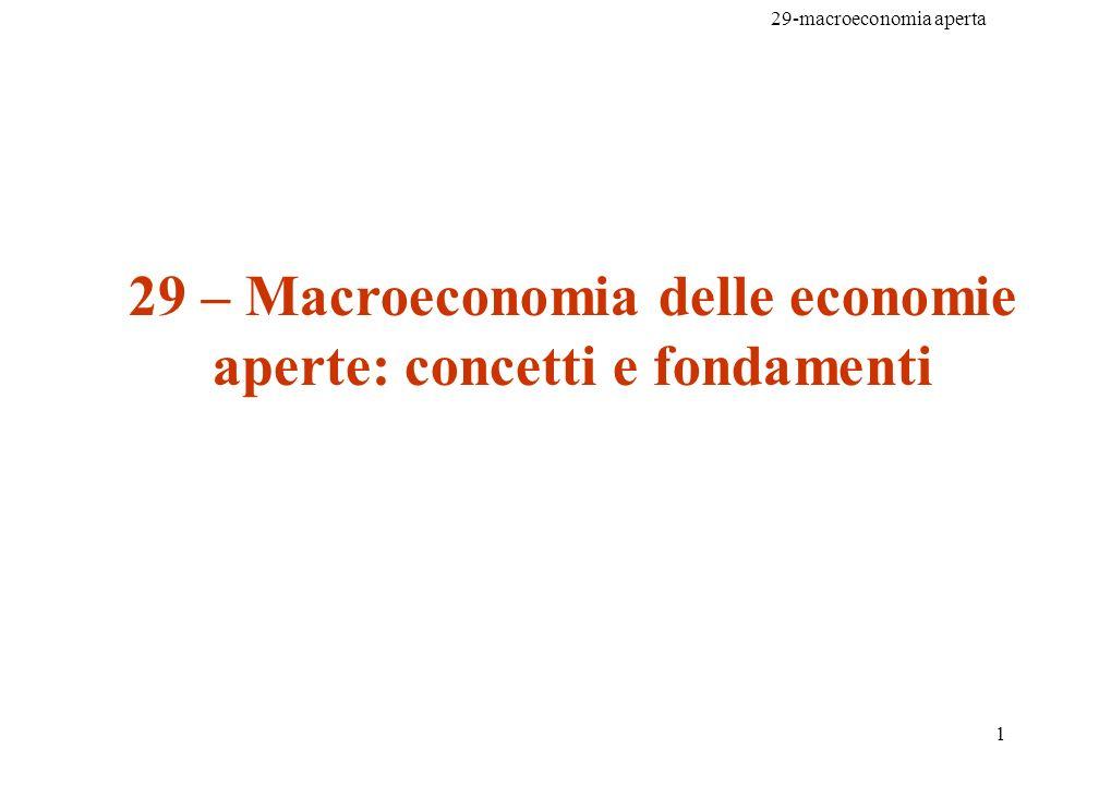 29-macroeconomia aperta 1 29 – Macroeconomia delle economie aperte: concetti e fondamenti