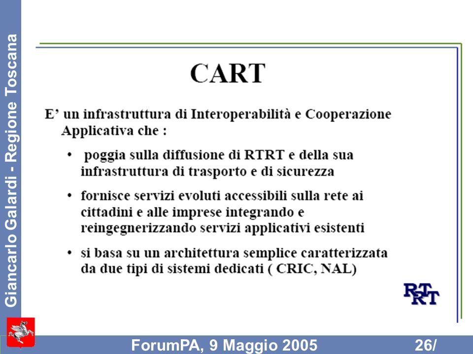 Giancarlo Galardi - Regione Toscana ForumPA, 9 Maggio 200526/
