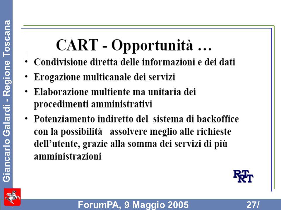 Giancarlo Galardi - Regione Toscana ForumPA, 9 Maggio 200527/