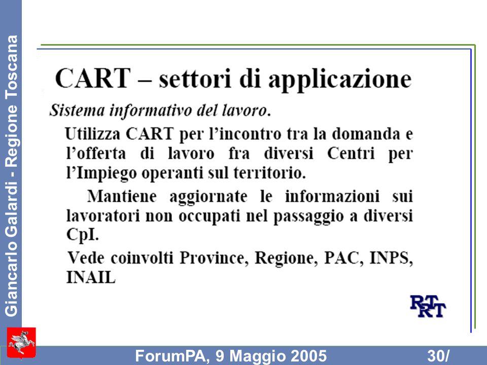 Giancarlo Galardi - Regione Toscana ForumPA, 9 Maggio 200530/