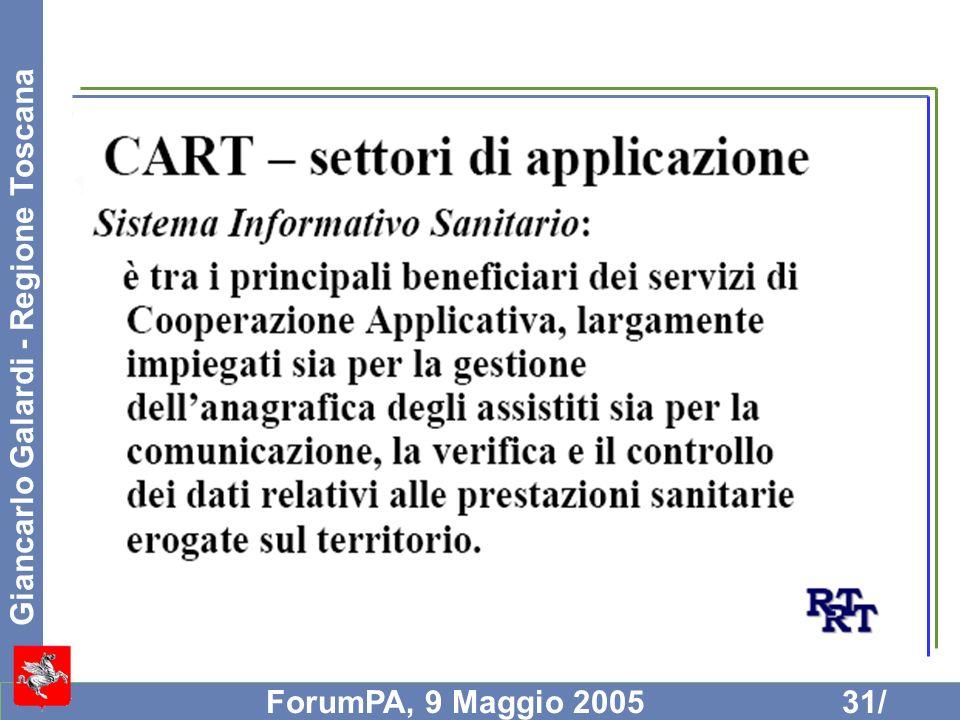 Giancarlo Galardi - Regione Toscana ForumPA, 9 Maggio 200531/