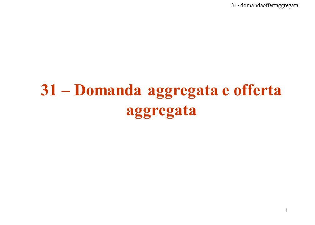 31- domandaoffertaggregata 72 Problema n.10 pag 595 Spiegate leffetto dei seguenti eventi sulle curve della domanda aggregata e dellofferta aggregata di breve periodo, ricorrendo anche allillustrazione grafica.