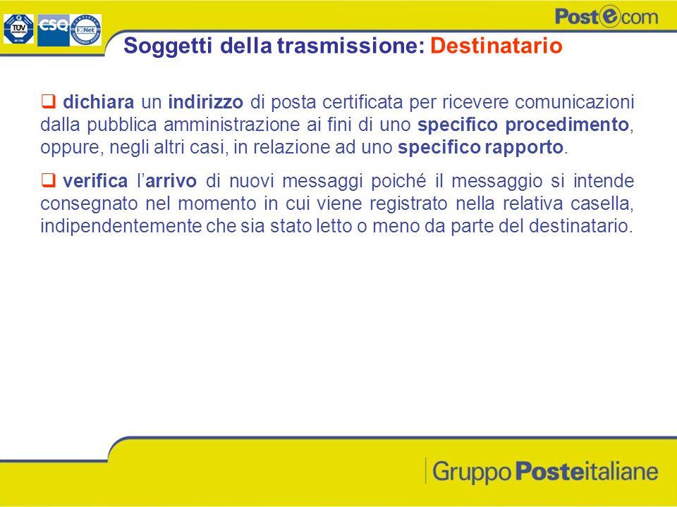 dichiara un indirizzo di posta certificata per ricevere comunicazioni dalla pubblica amministrazione ai fini di uno specifico procedimento, oppure, ne