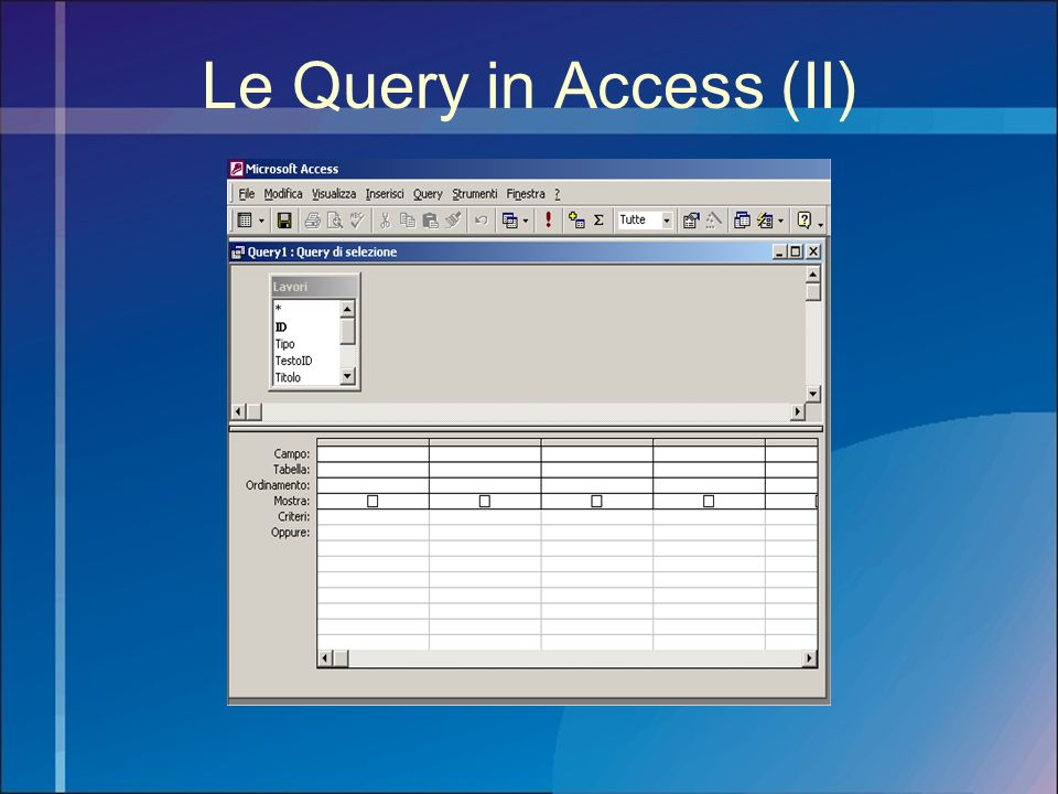 Le Query in Access (II)
