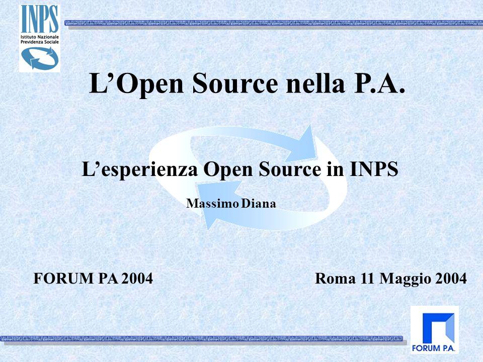 Roma 11 Maggio 2004 LOpen Source nella P.A.